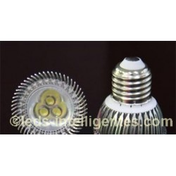 Ampoule LED Blanche 3x1W - 12V - MR16 / E27 / GU10