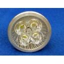 12 Ampoules LED Rouge, Vert, Bleu, 4x1W - 12V / 24V - MR16 / E27 / GU10
