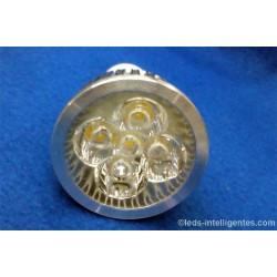 Ampoule LED Blanche 5x1W - 12V - MR16 / E27 / GU10